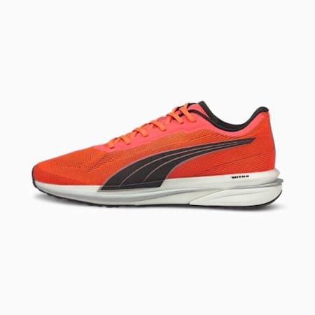 Velocity Nitro Men's Running Shoes, Lava Blast-Black-Silver, small-IND