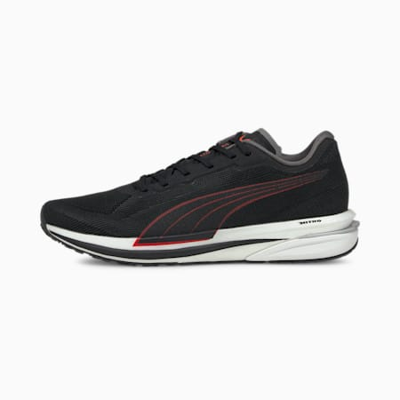 Velocity NITRO Men's Running Shoes, Puma Black-Lava Blast, small-GBR