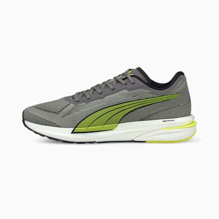 Velocity NITRO Men's Running Shoes, CASTLEROCK-Yellow-Black, small-GBR