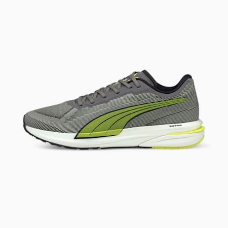 Zapatos para correrVelocity NITRO para hombre, CASTLEROCK-Yellow Alert-Puma Black, pequeño