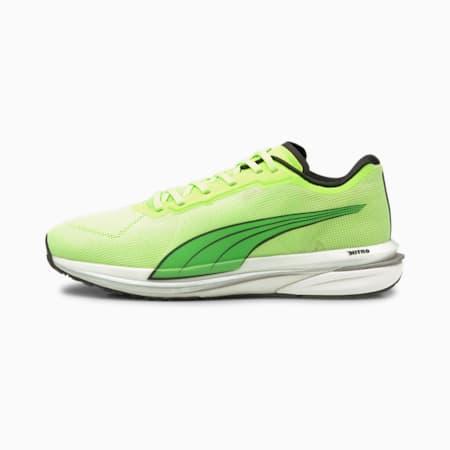Velocity Nitro Men's Running Shoes, Green Glare-Puma Black-Puma Silver, small-IND