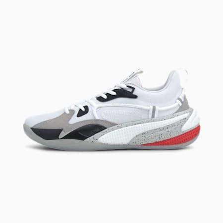 RS-Dreamer Concrete Jungle basketbalschoenen, Puma White-Puma Black, small