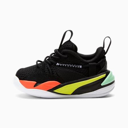 Zapatos RS-DREAMER para bebé, Black-White-Limepunch, pequeño