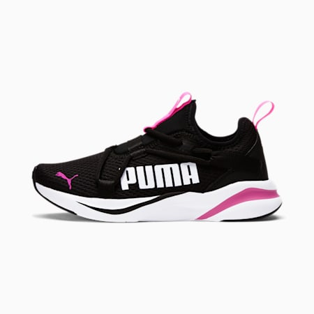 SOFTRIDE Rift Slip-On Running Shoes JR, Puma Black-Luminous Pink, small