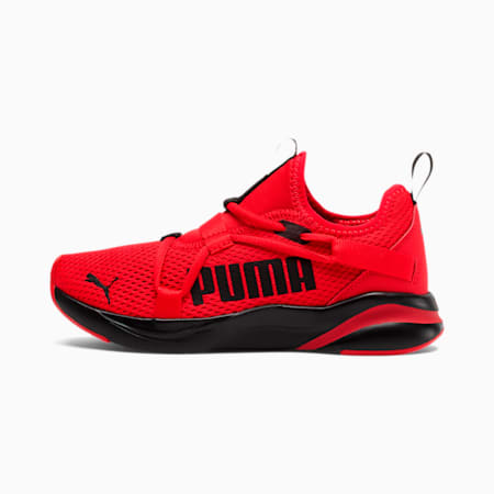 SoftRide Rift Slip-On Running Shoes JR, High Risk Red-Puma Black, small