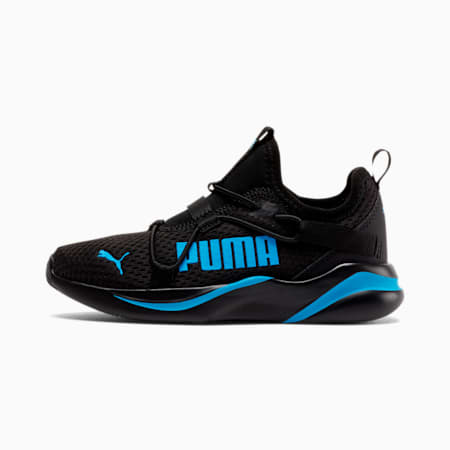 Rift Little Kids' Slip-On Shoes, Puma Black-Nrgy Blue, small