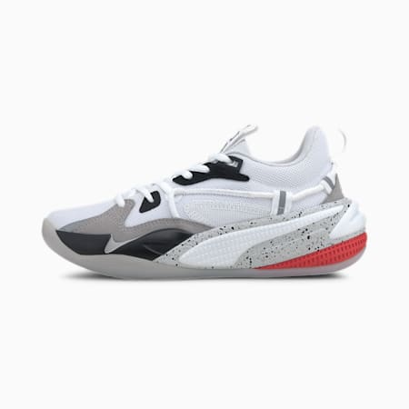 RS-Dreamer Concrete Jungle Youth Basketball Shoes, Puma White-Puma Black, small