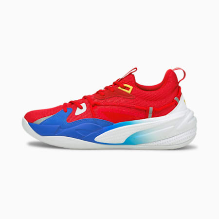 RS-Dreamer Youth Super Mario 64™ Basketballschuhe, Flame Scarlet-Electric Blue, small
