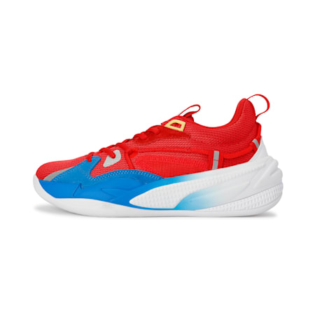 RS-Dreamer Super Mario 64™ Basketball Shoes JR, Flame Scarlet-Electric Blue, small-IND