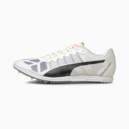 Zapatos deportivos de atletismo de media distancia evoSPEED para hombre, Blanco-Negro-Lava Blast, pequeño