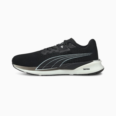 Eternity Nitro Men's Running Shoes, Puma Black-Puma White, small-IND