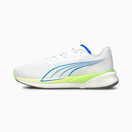 Eternity Nitro Men's Running Shoes, Puma White-Ultra Blue-Green Glare, small-GBR