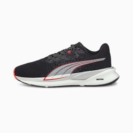 Eternity NITRO Women's Running Shoes, Black-White-Lava Blast, small-GBR