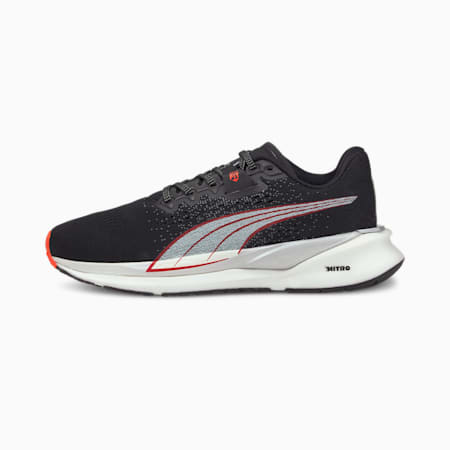 Eternity NITRO Women's Running Shoes, Black-White-Lava Blast, small-SEA