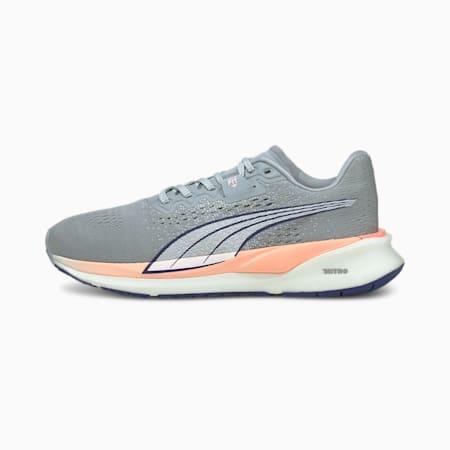 Zapatos para correrEternityNITRO para mujer, Quarry-Elektro Blue-Elektro Peach, pequeño