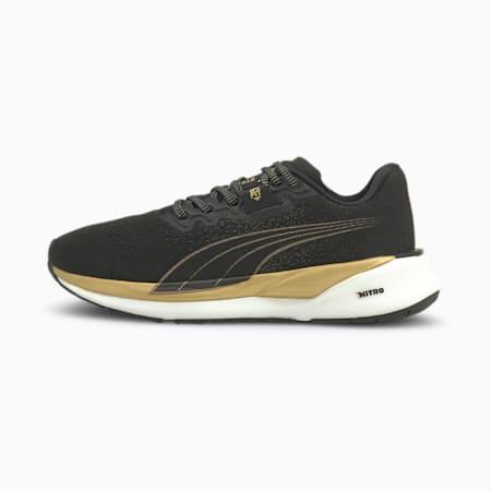Zapatos para correrEternityNITRO para mujer, Puma Black-Puma Team Gold, pequeño
