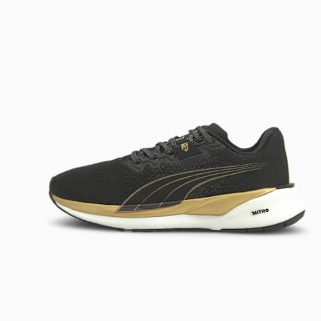 Eternity NITRO Women's Running Shoes, Puma Black-Puma Team Gold, small-SEA