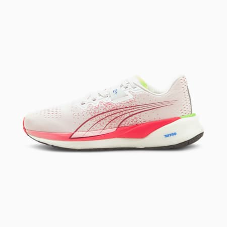 Eternity Nitro Women's Running Shoes, Puma White-Sunblaze-Ultra Blue, small-IND