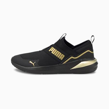 Platinum Alt Women's Training Shoes, Puma Black-Puma Team Gold, small-IND
