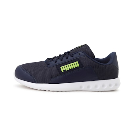 PUMA Chrome Men's Shoes, Peacoat-Limepunch, small-IND