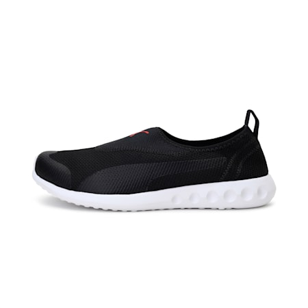 Concave V4  Men's IDP Slip On Shoes, Puma Black-High Risk Red, small-IND