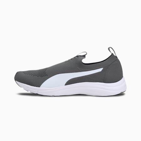 Lucifer Knit Men's IDP Slip On Shoes, Dark Shadow-Puma White, small-IND