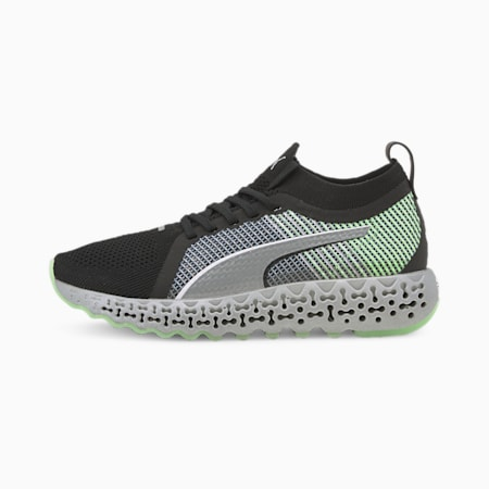Calibrate Runner Women's Shoes, Puma Black-Elektro Green, small