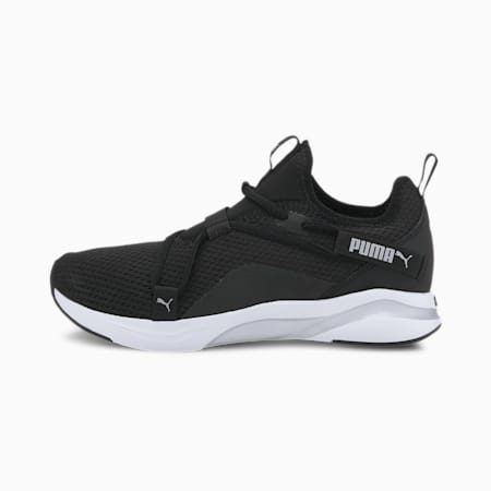 Softride Rift Women's Slip On Shoes, Puma Black-Metallic Silver, small