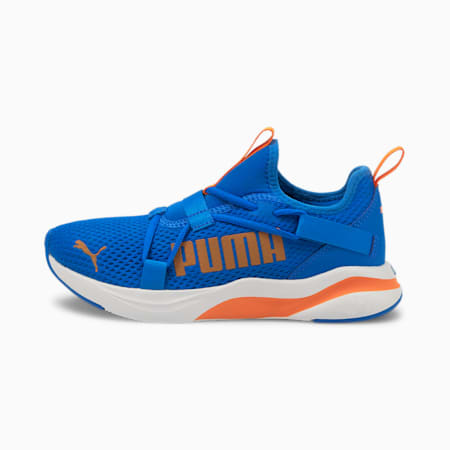 SOFTRIDE Rift Slip-On Pop Youth Shoes, Puma Royal-Vibrant Orange, small-IND