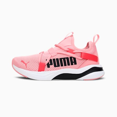 Softride Rift Pop Kid's Slip-On Running Shoes, Puma White-Peony-Paradise Pink, small-IND