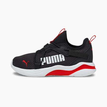 Rift Pop Kid's Slip-On Shoes, Puma Black-High Risk Red, small-IND
