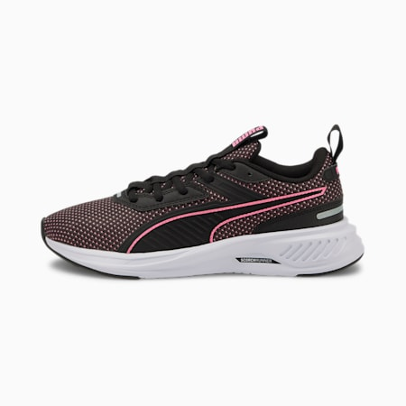 Scorch Runner Youth Trainers, Puma Black-Sachet Pink, small