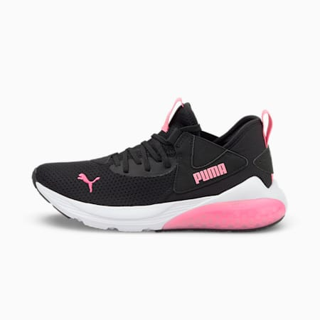 Cell Vive Kid's Running Shoes, Puma Black-Sachet Pink, small-IND