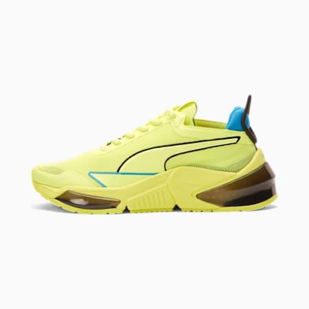 Zapatos de entrenamientoPUMA x FIRST MILE LQDCELL Optic Xtreme JR, Yellow-Nrgy Blue-Puma Black, pequeño