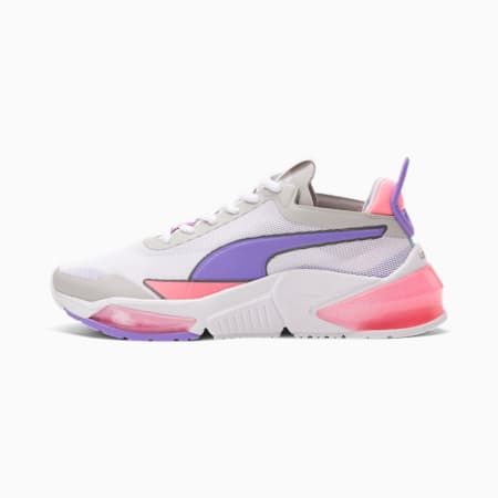 Zapatos de entrenamientoPUMA x FIRST MILE LQDCELL Optic Xtreme JR, White- Purple- Peach, pequeño