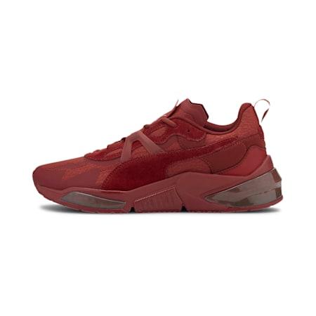 Zapatos de entrenamiento PUMA x FIRST MILE LQDCELL Optic Mono JR, Red Dahlia-Metallic Silver, pequeño