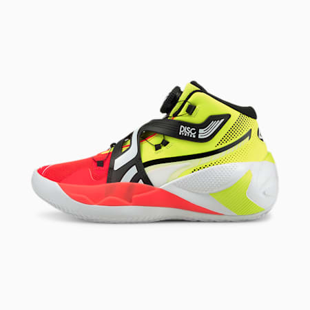 Disc Rebirth Basketball Shoes, Yellow Alert-Red Blast, small-IND