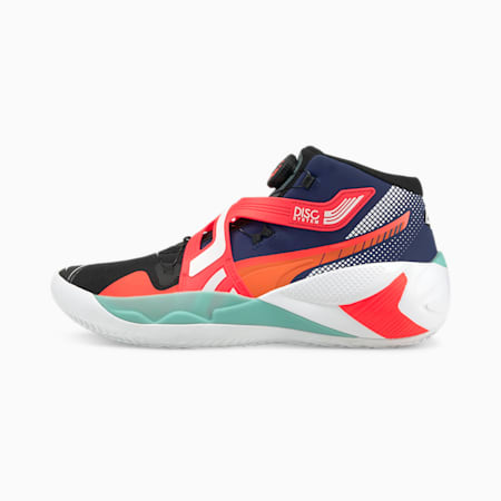 Disc Rebirth Basketball Shoes, Elektro Blue-Fiery Coral, small