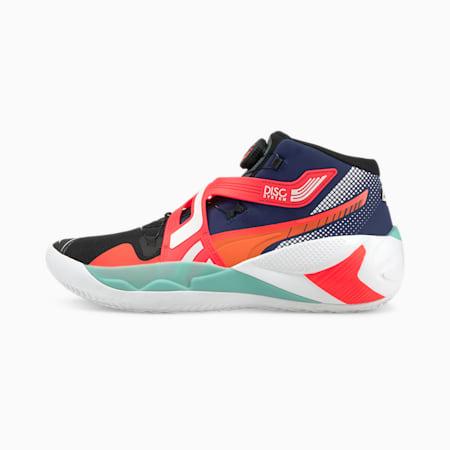 Zapatillas de baloncesto Disc Rebirth, Elektro Blue-Fiery Coral, small
