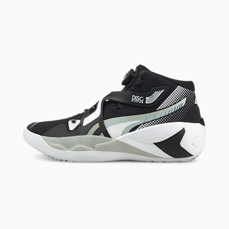 Disc Rebirth Basketball Shoes, Puma Black-Glacier Gray, small