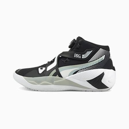 ディスク リバース バスケットボール シューズ, Puma Black-Glacier Gray, small-JPN