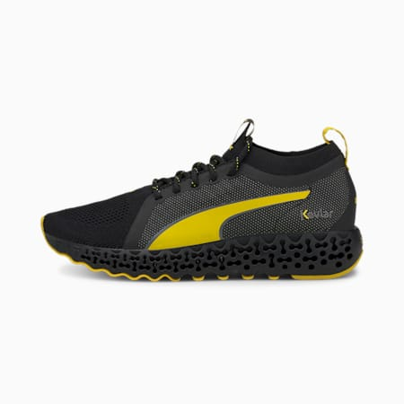 Calibrate Kevlar Running Shoes, Puma Black-Super Lemon, small