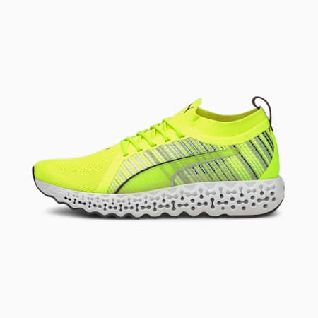Caliberate Transit Unisex Running Shoes, Yellow Alert-Puma Black, small-IND
