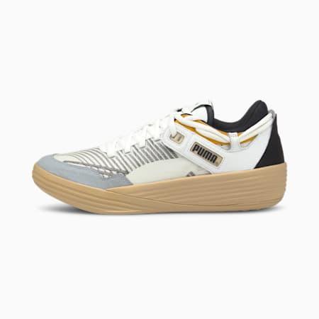PUMA x KUZMA Clyde All-Pro Men's Basketball Shoes, Puma White-Pebble, small