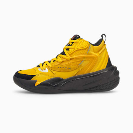 Dreamer 2 Mid Youth Basketball Shoes, Spectra Yellow-Puma Black, small