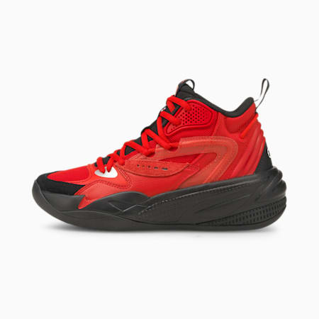 Dreamer 2 Mid Youth Basketball Shoes, High Risk Red-Puma Black, small-GBR