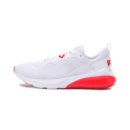 Cell Vive Clean Men's Running Shoes, Puma White-High Risk Red, small-IND