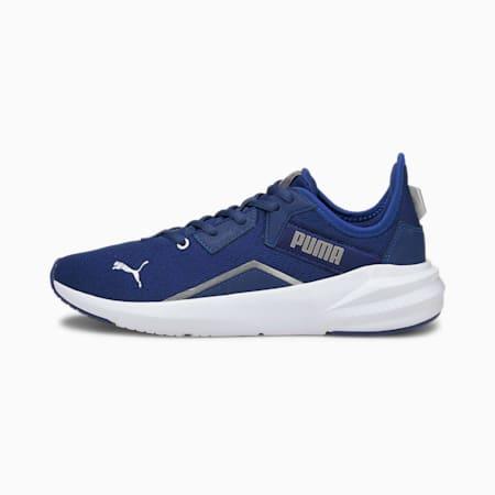 Zapatos de entrenamiento Platinum Untamed para mujer, Elektro Blue-White-Silver, pequeño