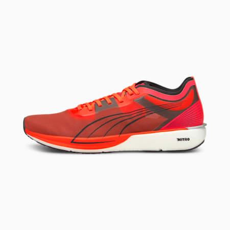 Zapatos para correr Liberate NITRO para hombre, Lava Blast-Puma White, pequeño