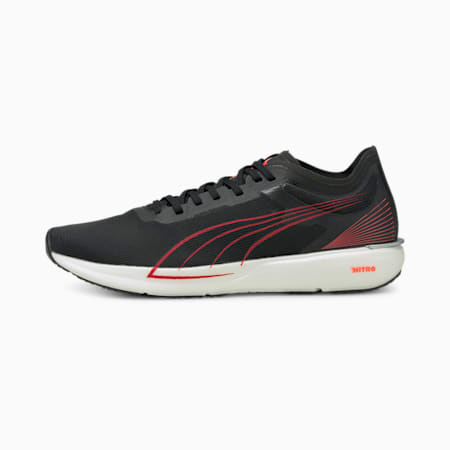 Liberate NITRO Men's Running Shoes, Puma Black-Lava Blast, small-GBR